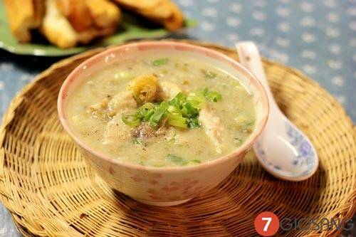 Cách nấu món cháo ếch đậu xanh